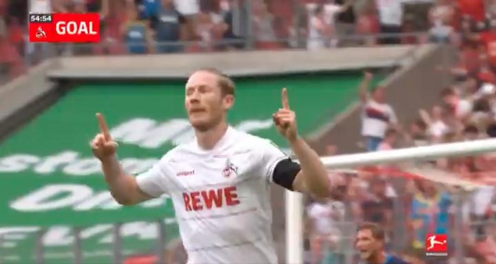 Kainz marcó dos goles. Captura/Bundesliga