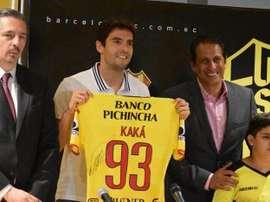 Káká vai jogar com o Barcelona Guayaquil, na 'Noite Amarela'. Barcelona