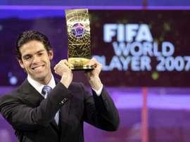 Kaka won the Ballon d'Or in 2007. Goal
