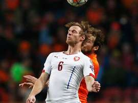 Kalas, en un partido con la República Checa. ChelseaFC