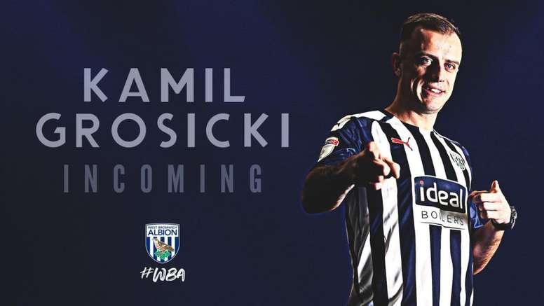 Grosicki fue confirmado por el West Bromwich Albion. WBA