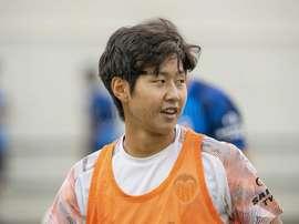 Kang-in Lee est de retour dans le groupe de Valence. Twitter/valenciacf