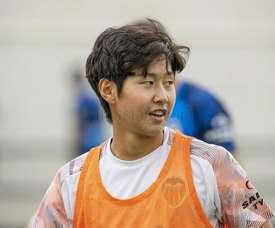 Kang-in Lee, toujours dans les radars de la Juventus. Twitter/Valenciacf