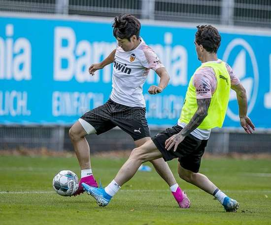 Kang-in Lee could make his debut for the South Korea senior side. ValenciaCF