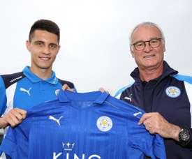 Kapustka with new manager Claudio Ranieri. LCFC