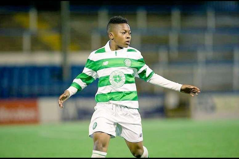 Karamoko Dembélé deja su primera huella. Twitter/Celtic