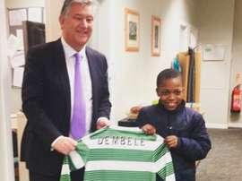 Karamoko Kader Dembele, jugador de la cantera del Celtic de Glasgow. Twitter