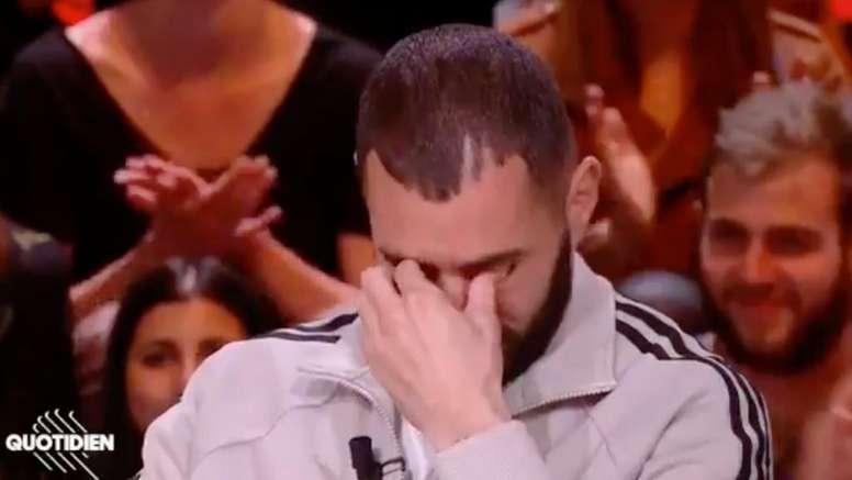 Las lágrimas de Benzema al hablar de sus hijos. Captura/TMC