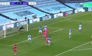 Real Madrid empatou contra o Manchester City com gol de Benzema. Captura/MovistarLigadeCampeones