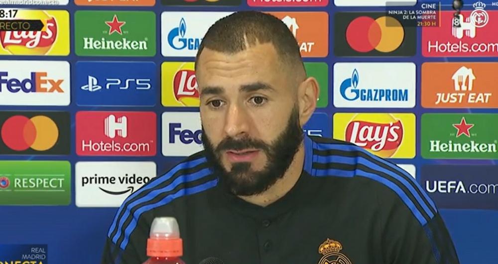 Benzema analizó lo que le espera al Madrid frente al Inter. Captura/RealMadridTV