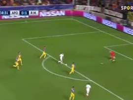Benzema made no mistake after being slipped in by Kroos. SportTV1