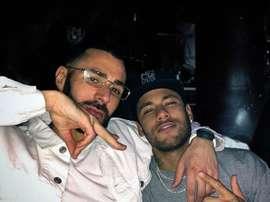 Benzema y Neymar, ¿juntos en el Madrid? Instagram/KarimBenzema