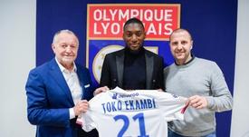 Toko Ekambi é do Lyon. Twitter/OL