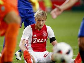 Dolberg happy for Ajax to resist Roma bids. AFP