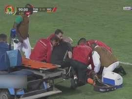 El Níger-Túnez dejó esta imagen sobrecogedora. Captura/beINSports