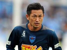 L'attaquant de Yokohama FC Kazuyoshi Miura lors d'un entraînement à Tokyo. Twitter