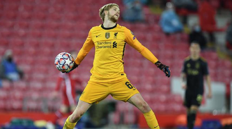 Kelleher playing for Liverpool. AFP