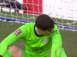 Kepa messed up in net once again. Screenshot/Twitter/EmiratesFACup