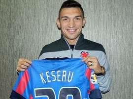 Keseru, durante su presentación con el Steaua de Bucarest. Steaua
