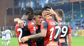 El Genoa saliva con Agudelo. GenoaCFC