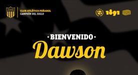 Kevin Dawson, nuevo jugador de Peñarol. Peñarol