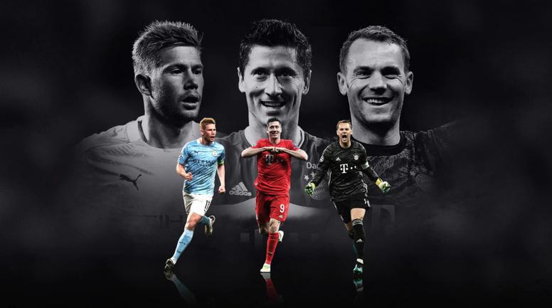 Les nommés pour les titres UEFA. UEFA