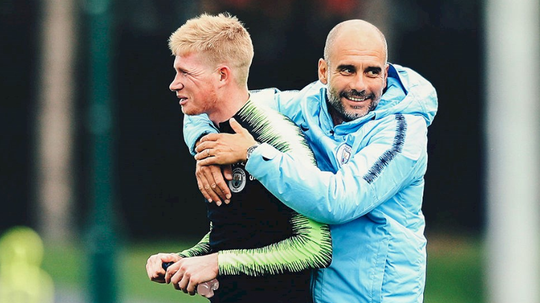 The return of De Bruyne will be a welcome site for City fans. MANCITY.COM