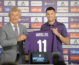 Kevin Mirallas is happy to be in Italy. Twitter/ACFFiorentina