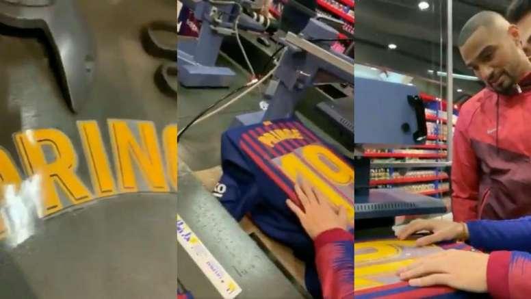 Boateng ya tiene dorsal. Twitter/FCBarcelona
