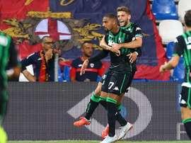 El Sassuolo se pone segundo en la Serie A. AFP