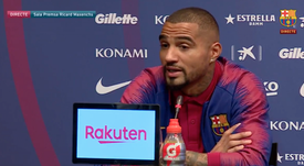 Boateng no quiso polémicas. Captura/FCBarcelona