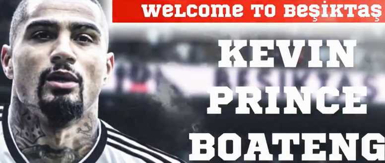 Kevin-Prince Boateng é o novo reforço do Besiktas. Twitter @Besiktas