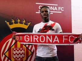 El camerunés es la nueva apuesta del filial del Girona en Segunda B. CFPeralada