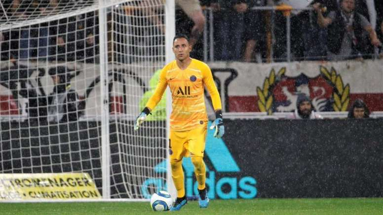 Keylor Navas earns seven million a year at PSG. AFP