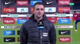 Kike García, héroe ante el Barça. Captura/MovistarLaLiga