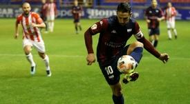 Kike Márquez fue titular. UDExtremadura