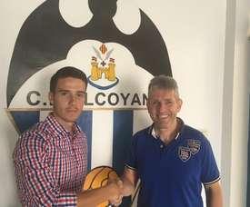 Kilian, nuevo jugador del Alcoyano. CDAlcoyano