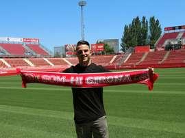 Kilian Durán ya está en Montilivi. Twitter/GironaFC
