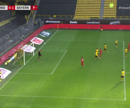 Kimmich scored a great goal. Screenshot/Movistar+