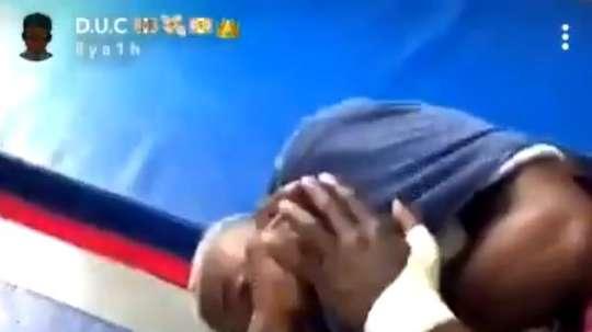 Kimpembe a traumatisé N'Soki. Capture/Twitter