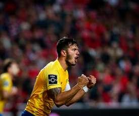 El Estoril venció al Portimonense y sueña con salvarse. Twitter/EstorilPraia
