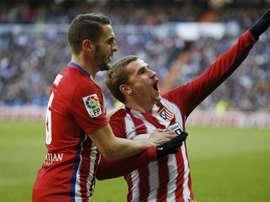 Koke et Griezmann célèbrent leur victoire en Liga avec l'Atletico Madrid. EFE