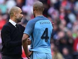Guardiola confia na renovação de Kompany. AFP