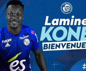Koné signe à Strasbourg. Twitter/ RC Strasbourg