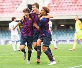Deux clubs de Ligue 1 visent un jeune de la Masia. EFE