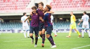 Ligue 1 keeping an eye on Barca youngster Konrad de la Fuente. EFE