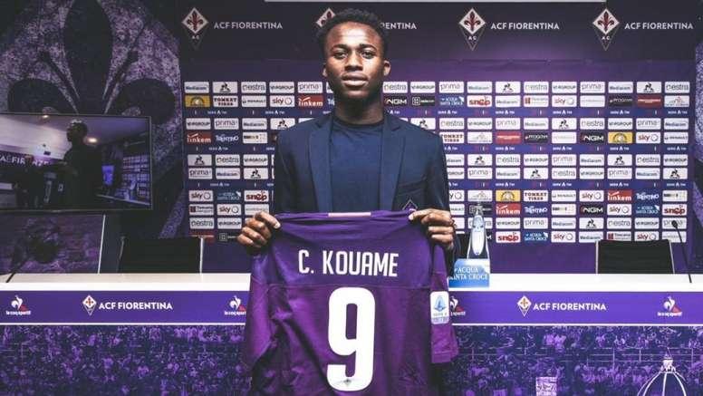 Kouamé explicó su elección numérica. ACFFiorentina