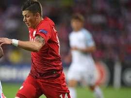 Kownacki poursuit l'aventure avec le Fortuna Düsseldorf. AFP