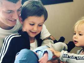 Kroos presents the latest addition to his family. Instagram
