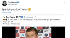 Kroos não gostou de ter sido legendado. Twitter/ToniKroos